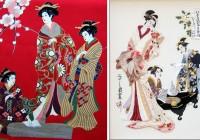 Япон үндэсний хувцас Кимоно